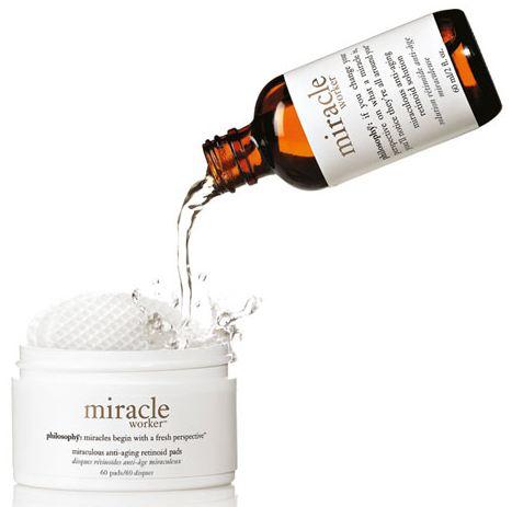 Dorine test Philosophy Miracle Worker retinoïde pads & moisturizer