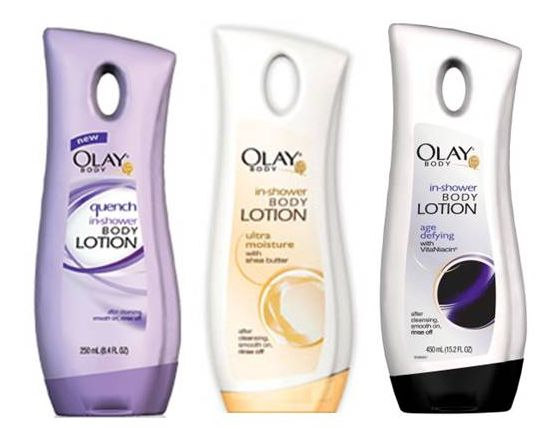 olay in shower body lotion