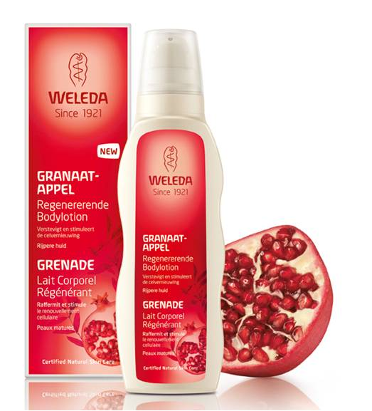 Maxim test Granaatappel Bodylotion van Weleda