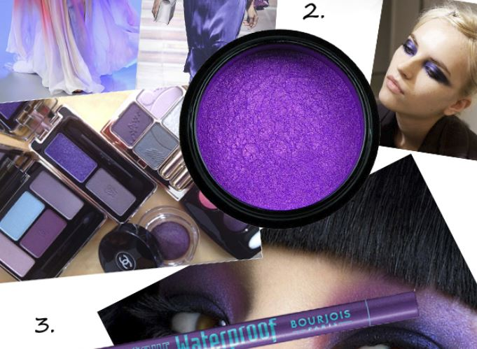 Trend: purple smokey eyeshadow!