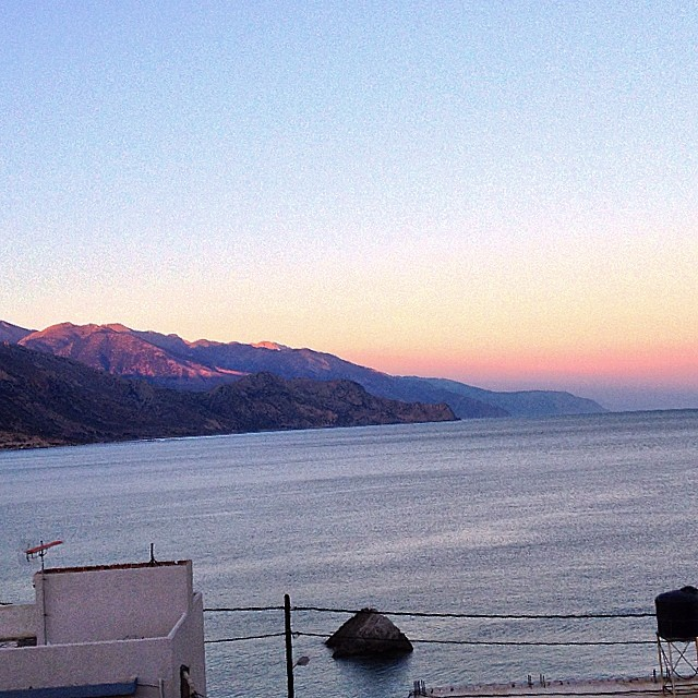#sunset view from my holiday #retraite in #paleochora #crete