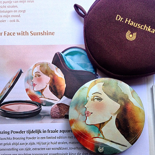 Lovely #packaging #bronzing #powder #drhauschka in store from august 15 in #holland