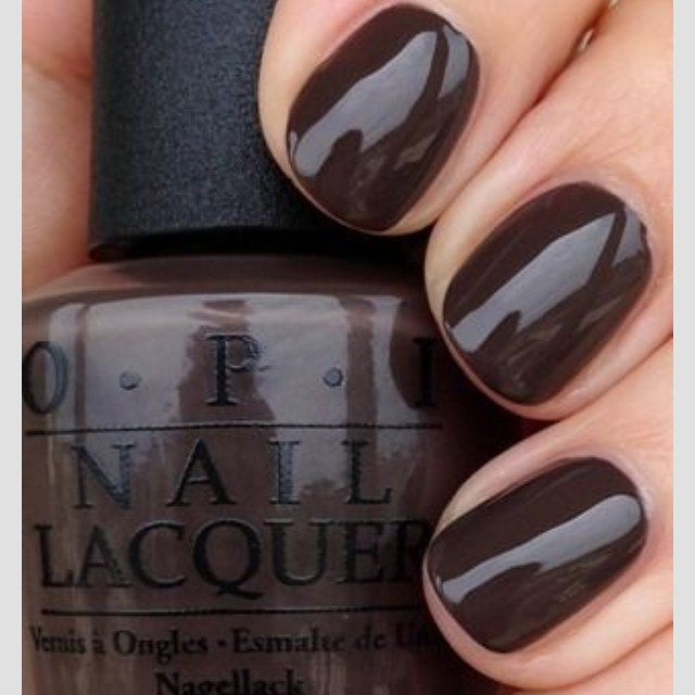 Love the #brown #nail #trend #2014 #opi