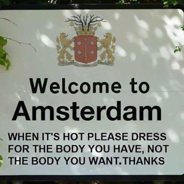 Message from my hometown #amsterdam