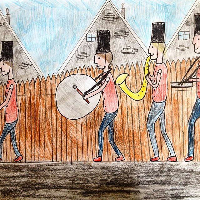 The musictroopers of my daughter #drawing