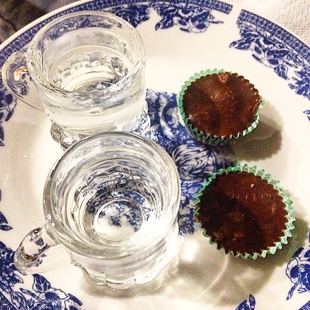 #raki with #homemade #chocolat #crete #maria