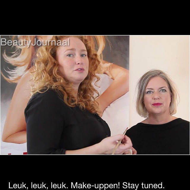 Makeupping with mua #liselottevansaarloos soon the how to video on beautyjournaal.nl #makeup #makeuptrend #makeupvideo #vlog #howto
