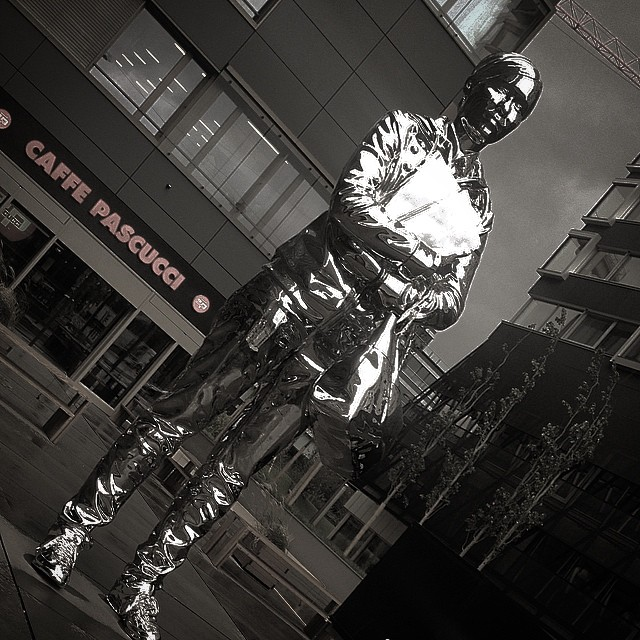 The missing link #zurich #25hours #hotel #kiehlsinnovations #art #statue #girl