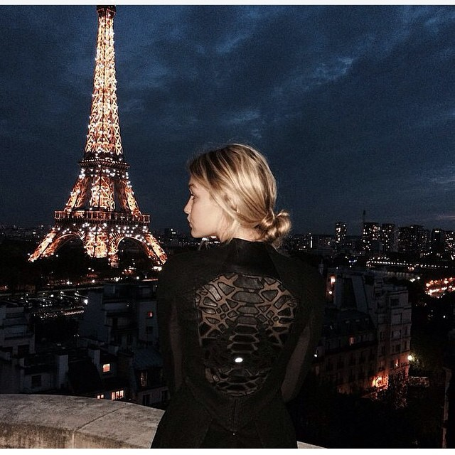#paris at #night #black #lace #eiffeltower #glamour #party
