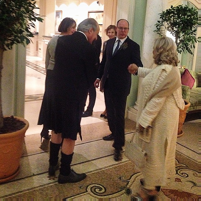Unexpected #royal guest in my hotel #hermitagehotel #monaco #king #albert #insidewella