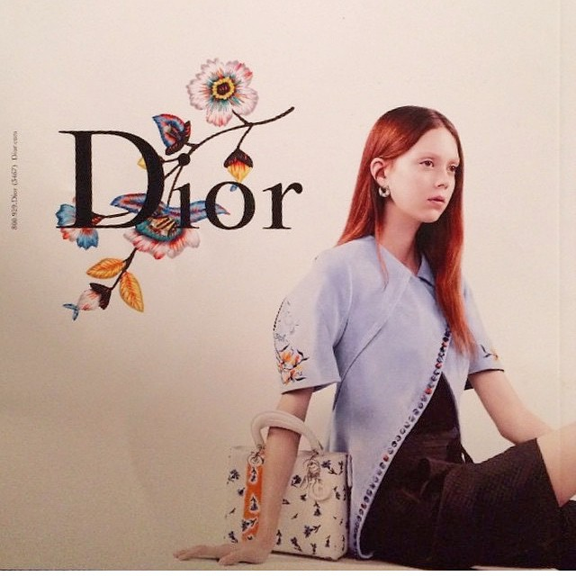 I love the look and feel in this @dior #spring #2015 #campaign. #artisanal #embroideries #flowers #handcrafted. Thank you for sharing @peterphilipsmakeup ?