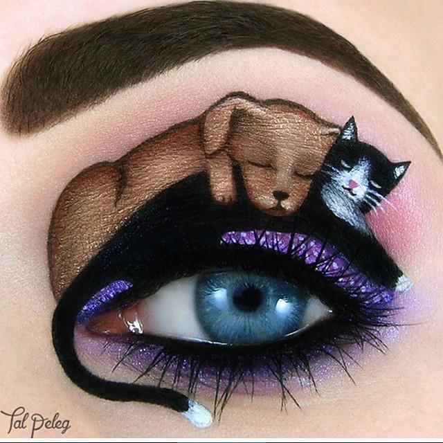 OMG i love this idea, so sweet! So playfull @eyeko #cateyes #puppyeyes #instabeauty #inspiration #eyemakeup