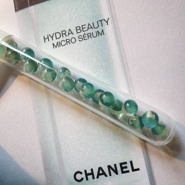 I love @chanel #hydrabeauty #serum with encapsulated #camelia #oil