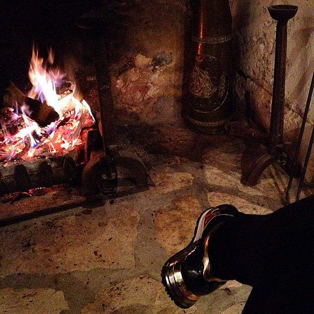 Stoking the fires deep down in #france to keep warm #dordogne