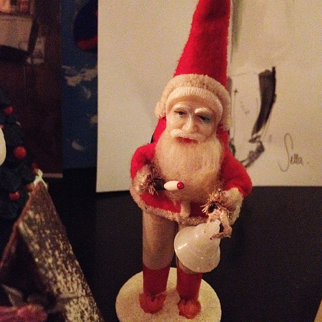 My little #santaclaus made in the 1950's #xmas