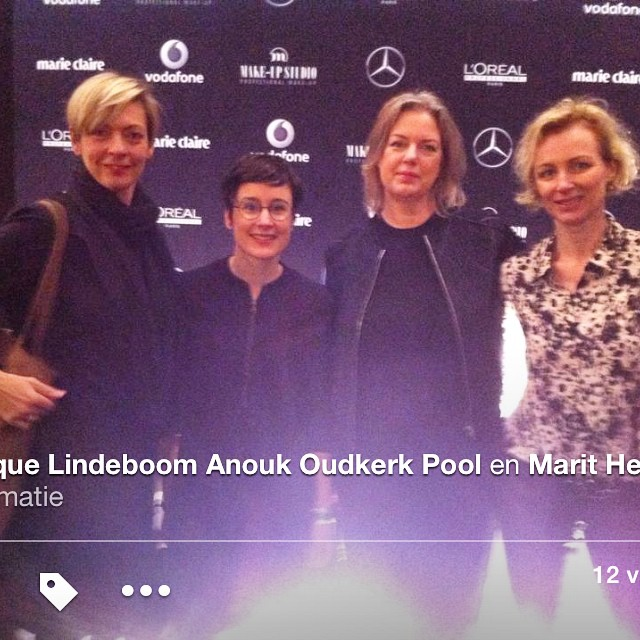 Me (second right) and my collegues at #mbfw #amsterdamfashionweek