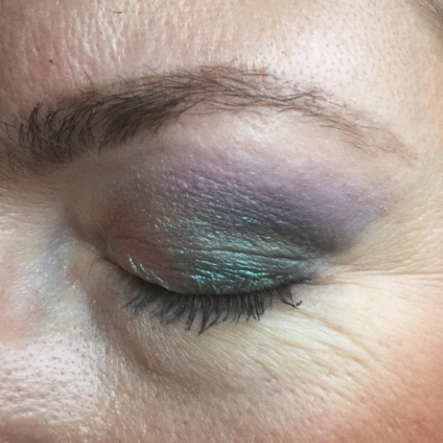 Working with new #spring #colors @makeupstudionl #lilac #turquoise #jadegreen