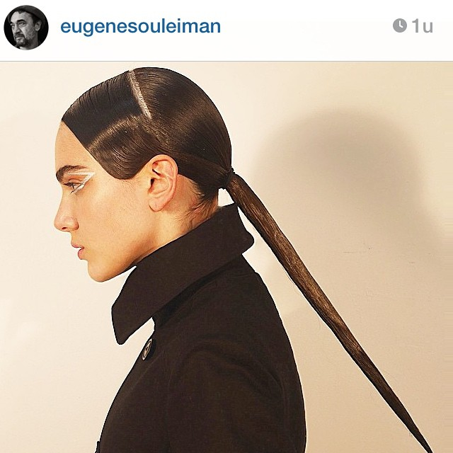 Love this @eugenesouleiman for #yamamoto #hair #inspiration #instabeauty