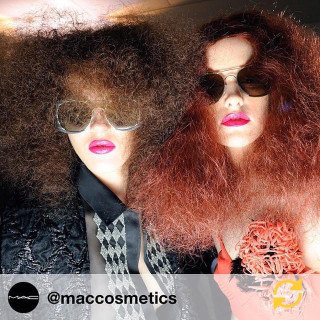RG @maccosmetics: Backstage at #Schiaparelli, Paris Haute Couture SS 2015. #ParisHauteCouture #regramapp