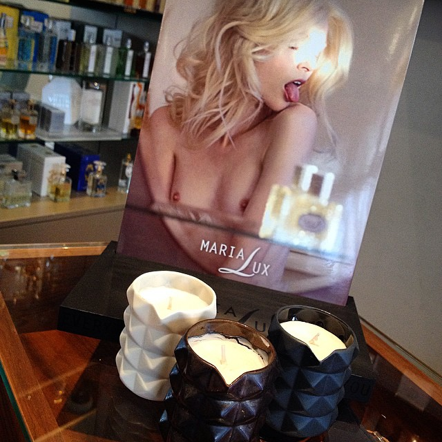 #marialux perfumed #candles that you can use in their liquid form as #massage #oil @perfume_lounge #amsterdam