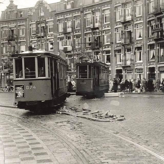 Before it used to be quite a busy junction for public transport. After 1978 it became a park. In front of my door in #amsterdam.