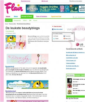 BeautyJournaal op Flair be