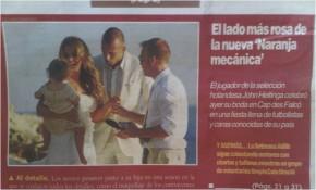 Dominique in Spaanse krant voor Heitinga huwelijk