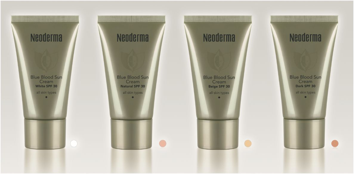 neoderma blue blood sun cream