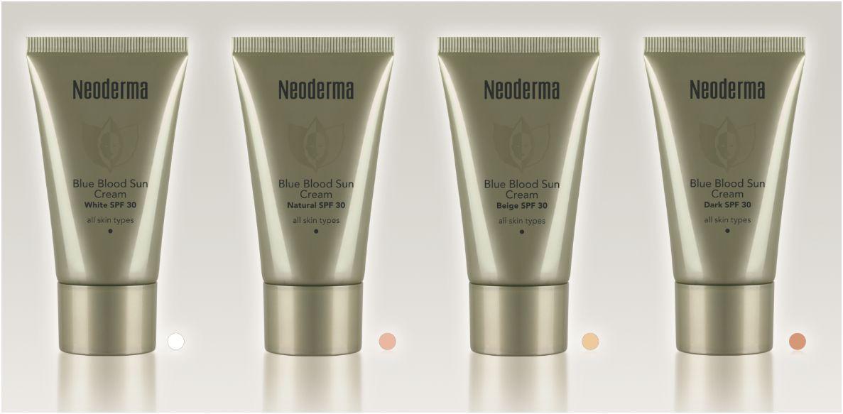 neoderma blue blood sun cream