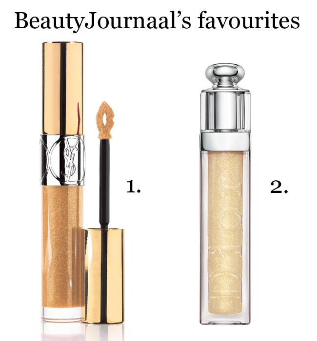 Prachtig glanzende golden lips