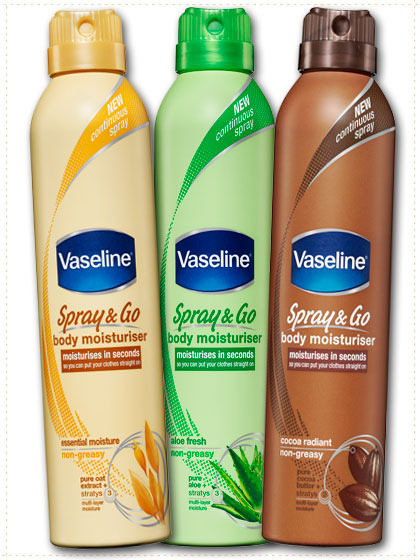 Tessa test Vaseline Spray & Go