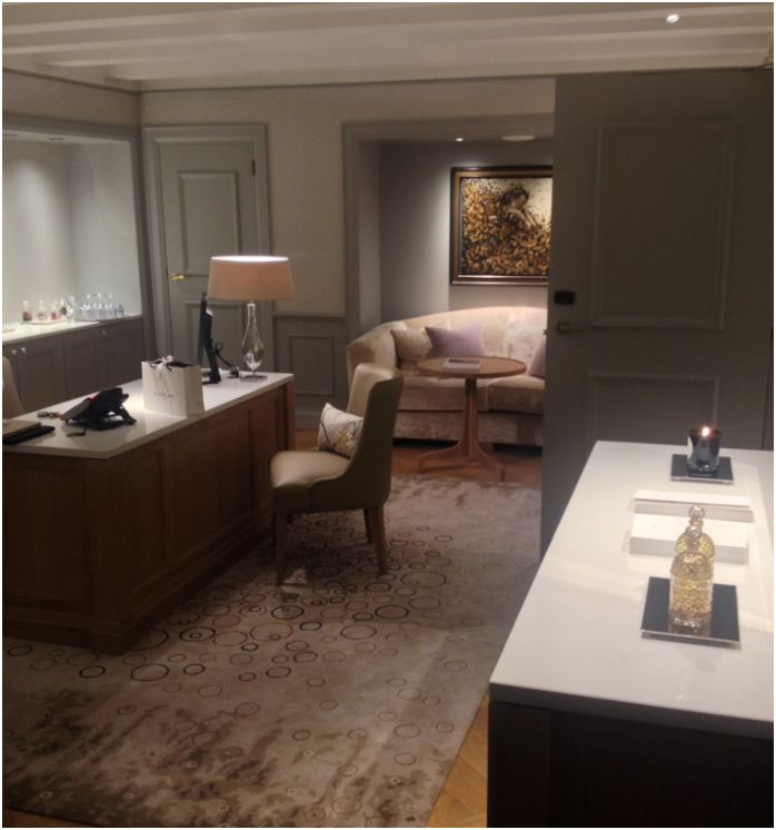 waldorf guerlain spa entree office