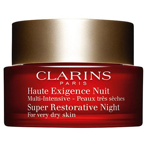clarins restorative night dry skin