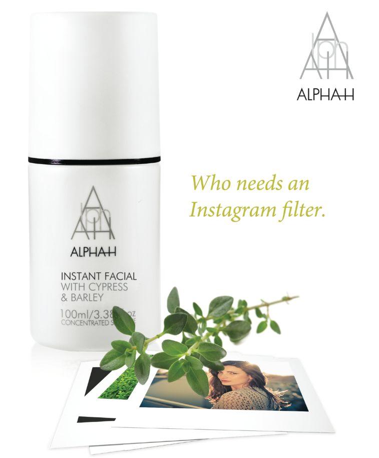 Alpha H instant facial