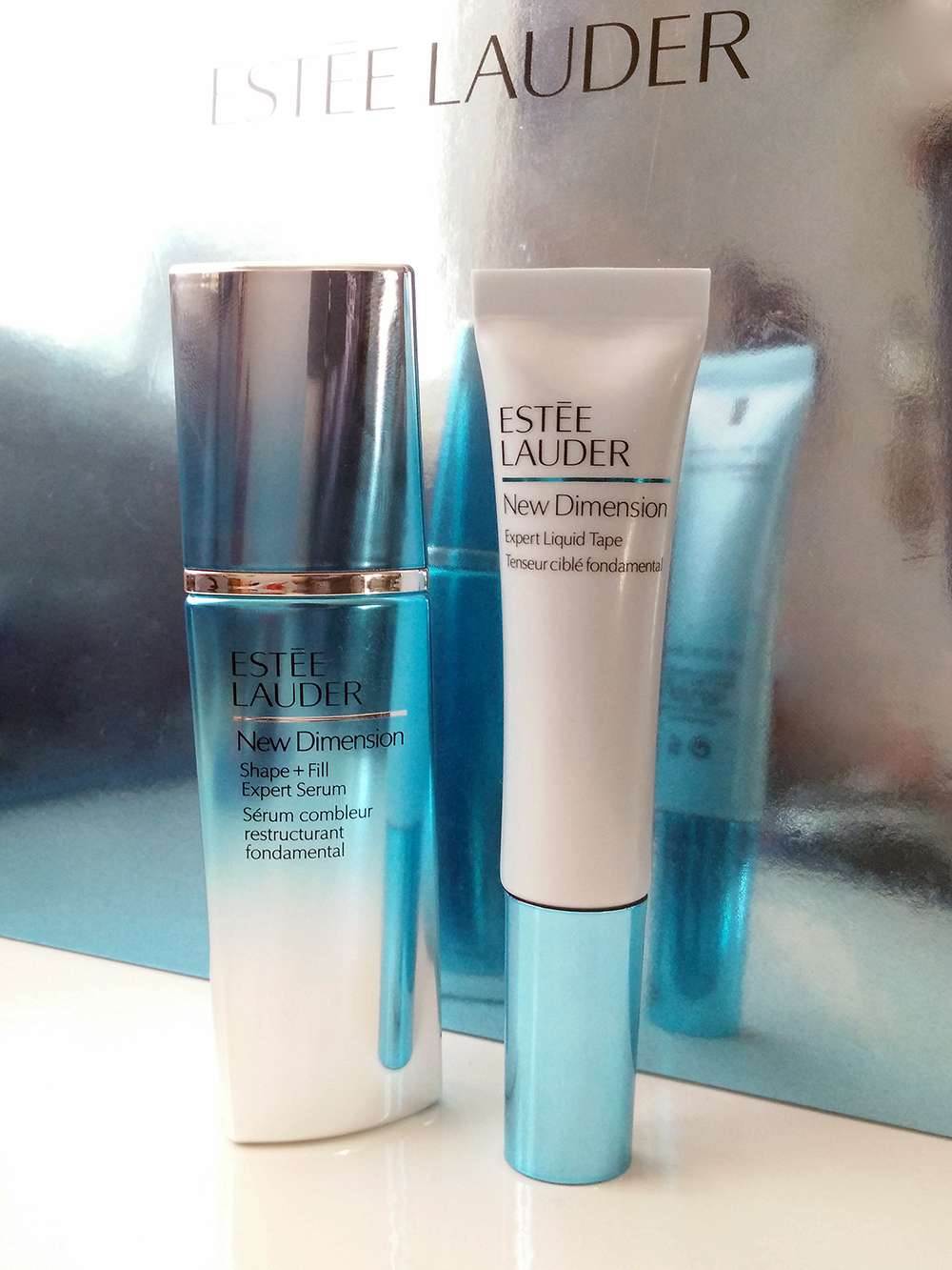 Estee Lauder new dimension shape + fill expert serum expert liquid tape