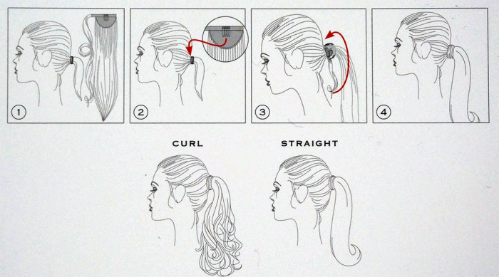 balmain catwalk ponytail instructions