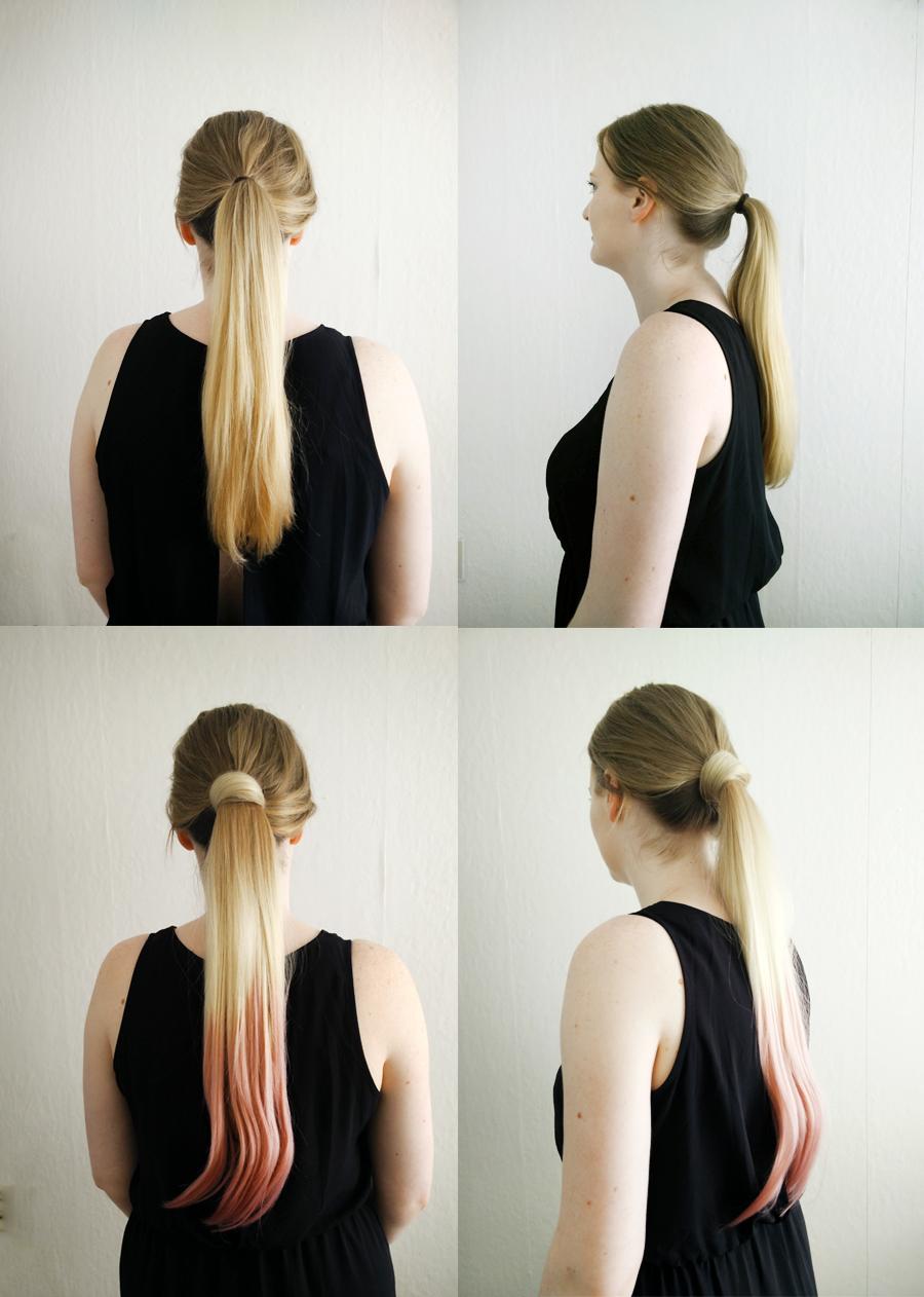 voor en na foto's balmain catwalk ponytail