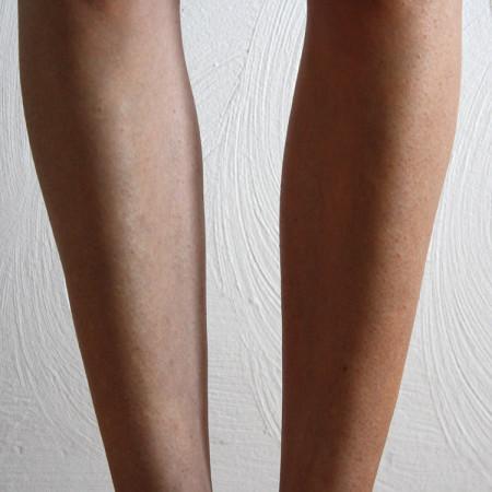 Honey Bronze Tinted Leg Mist Voor en Na