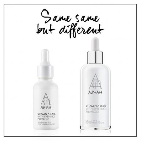 Alpha-H Vitamins Different Sizes