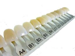 Tanden kleurenwaaier