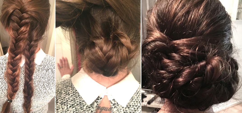 braids in het haar van mua michelle brand
