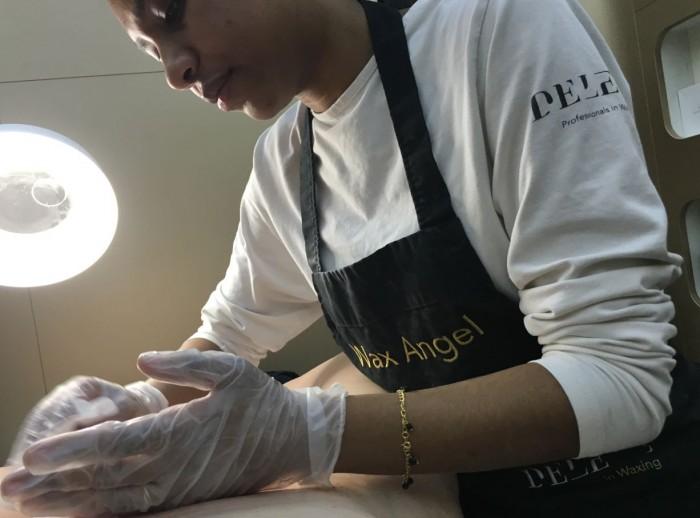 Wax angel doet brazilian wax