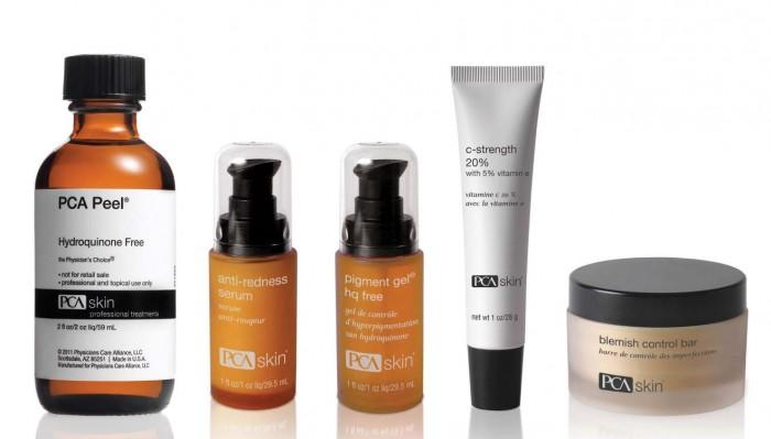 producten voor thuisgebruik en salon PCA skin