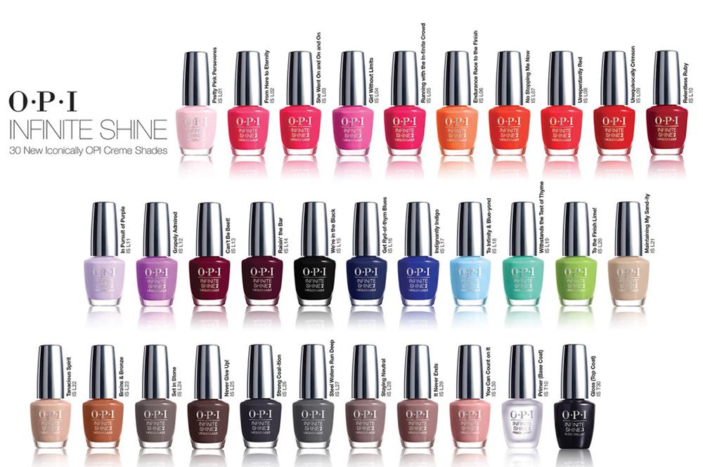 OPI Infinite Shine Kleuren