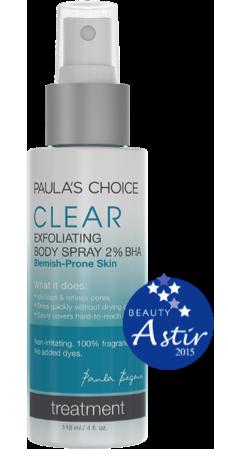 PC Clear Exfoliant Body Spray