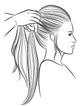 ponytail stap 2