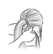 ponytail stap 3