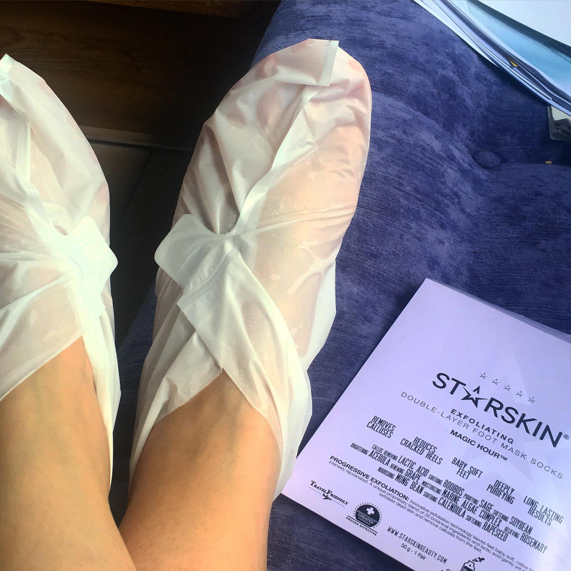 voeten in de sokken
