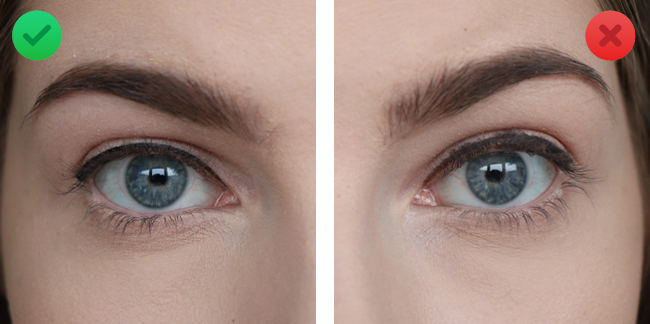 eyeliner fout