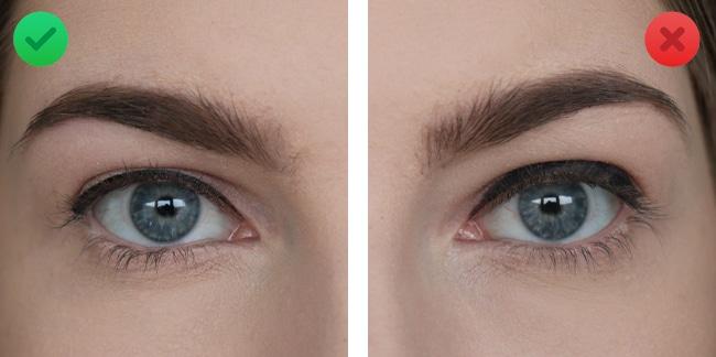 asymmetrische eyeliner